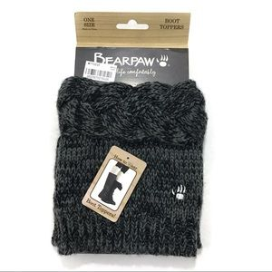 BearPaw boot toppers charcoal gray one size